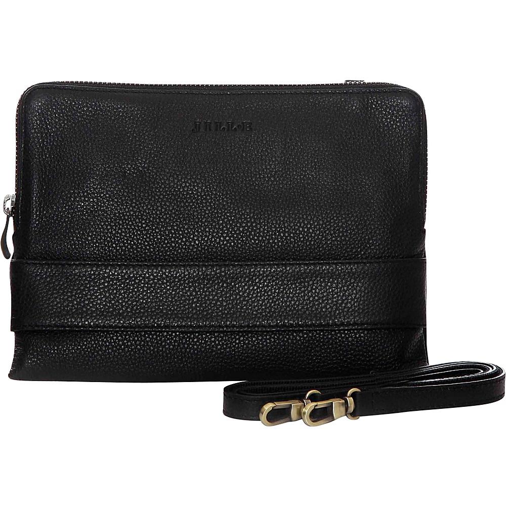 Jill e Designs Ivy 7 Leather Tablet Clutch Black Jill e Designs Electronic Cases