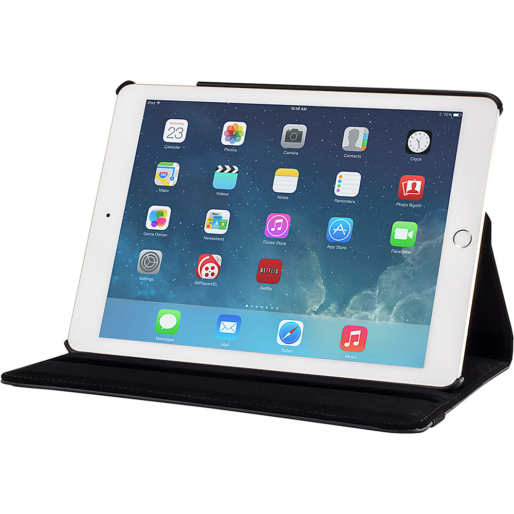 Devicewear Detour 360 Rotating Case for the iPad Air 2 Case with Auto On Off Black Devicewear Electronic Cases