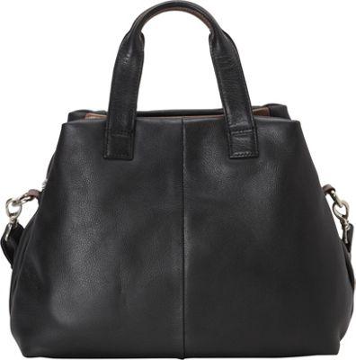 Derek Alexander E/W Top Handle Satchel Black/Bronze - Derek Alexander Leather Handbags