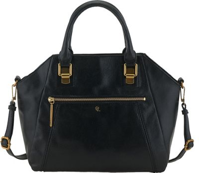 Elliott Lucca Faro City Satchel Black - Elliott Lucca Designer Handbags