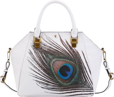 Elliott Lucca Faro City Satchel White Peacock - Elliott Lucca Designer Handbags