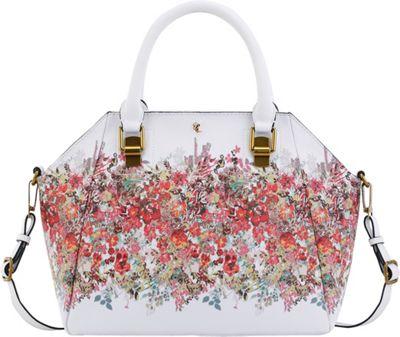 Elliott Lucca Faro City Satchel White Bouquet - Elliott Lucca Designer Handbags