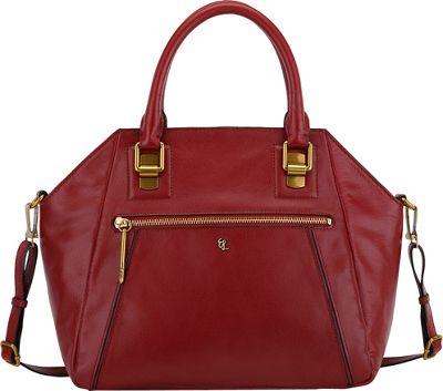 Elliott Lucca Faro City Satchel Brick - Elliott Lucca Designer Handbags