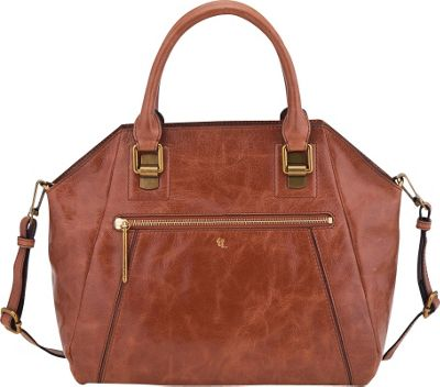Elliott Lucca Faro City Satchel Tobacco - Elliott Lucca Designer Handbags