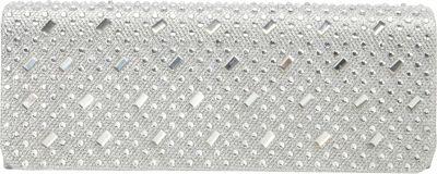 J. Furmani Studded Flap Clutch Silver - J. Furmani Evening Bags