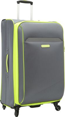 Swiss Cargo TruLite 28 inch Spinner Luggage Grey Green - Swiss Cargo Softside Checked