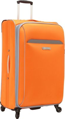 Swiss Cargo TruLite 28 inch Spinner Luggage Orange Silver - Swiss Cargo Softside Checked