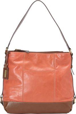 Tignanello Soho Vintage Hobo Coral - Tignanello Leather Handbags