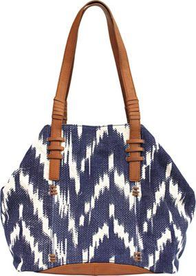 Lucky Brand Bali Hai Chevron Tote Surf Blue - Lucky Brand Fabric Handbags
