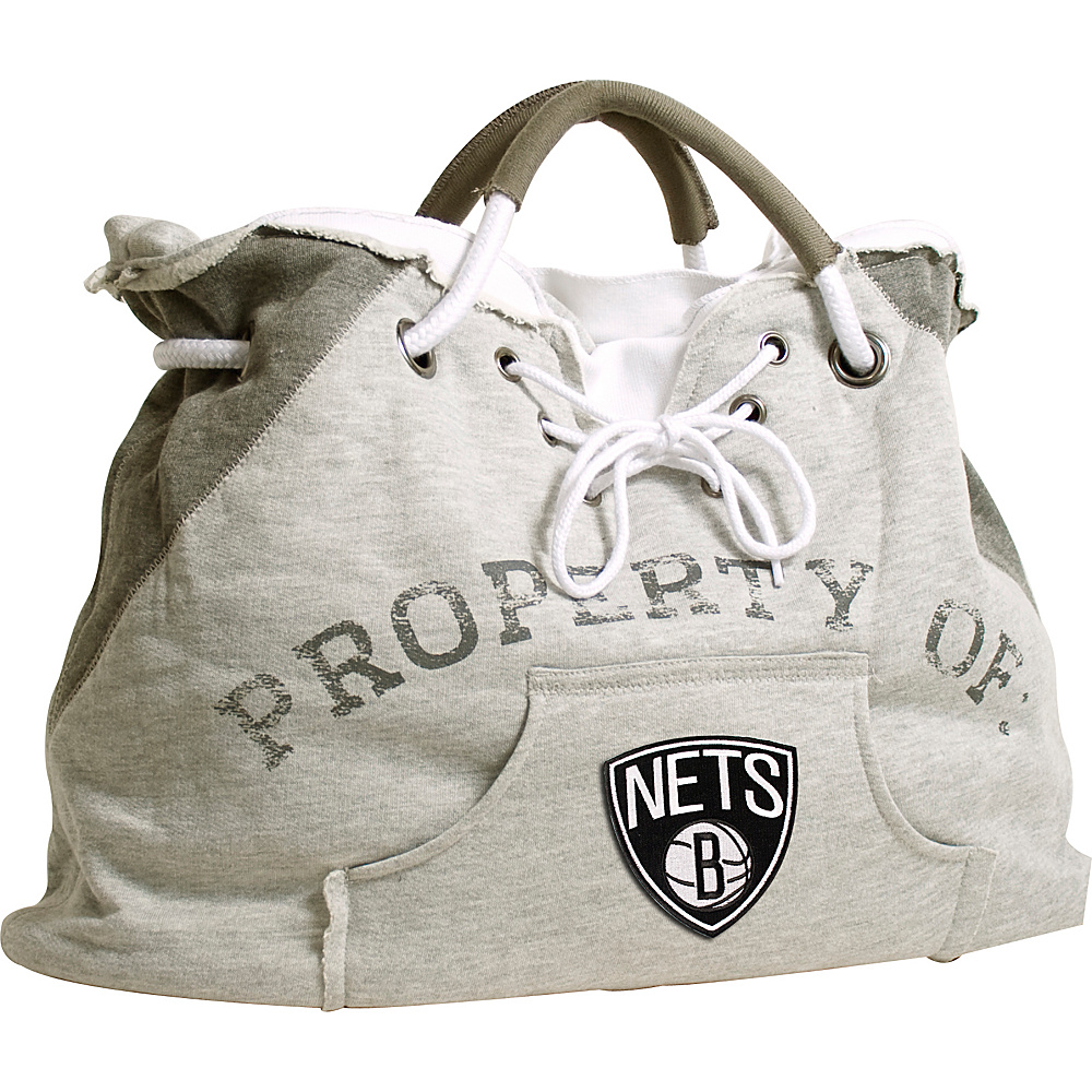 Littlearth Hoodie Tote - NBA Teams Brooklyn Nets - Littlearth Fabric Handbags - Handbags, Fabric Handbags