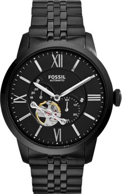 Fossil Townsman Automatic Stainless Steel Watch Black - F...