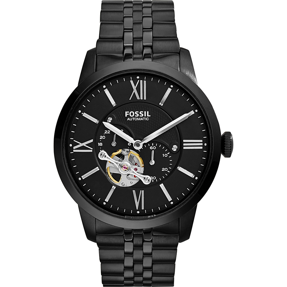 Fossil Townsman Automatic Stainless Steel Watch Black - Fossil Watches - Fashion Accessories, Watches