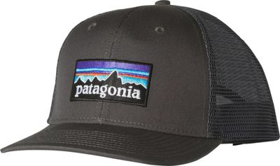 Patagonia P6 Trucker Hat One Size - Forge Grey - Patagonia Hats/Gloves/Scarves