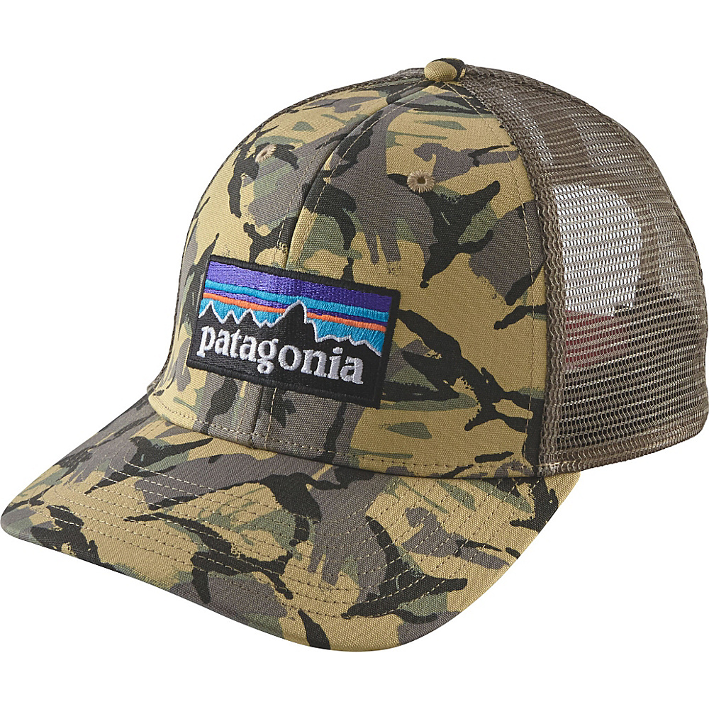 Patagonia P6 Trucker Hat One Size - Big Camo: Classic Tan - Patagonia Hats/Gloves/Scarves - Fashion Accessories, Hats/Gloves/Scarves