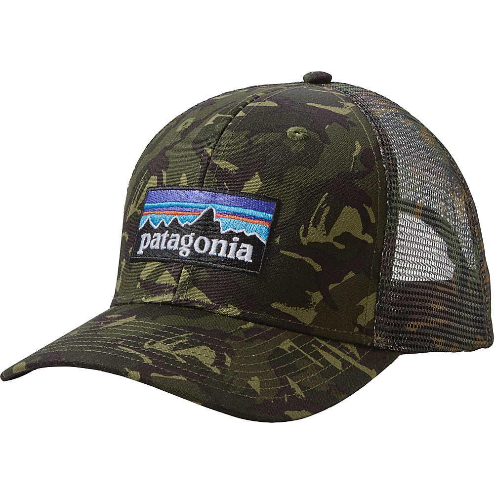 Patagonia P6 Trucker Hat One Size - Big Camo: Fatigue Green - Patagonia Hats/Gloves/Scarves - Fashion Accessories, Hats/Gloves/Scarves