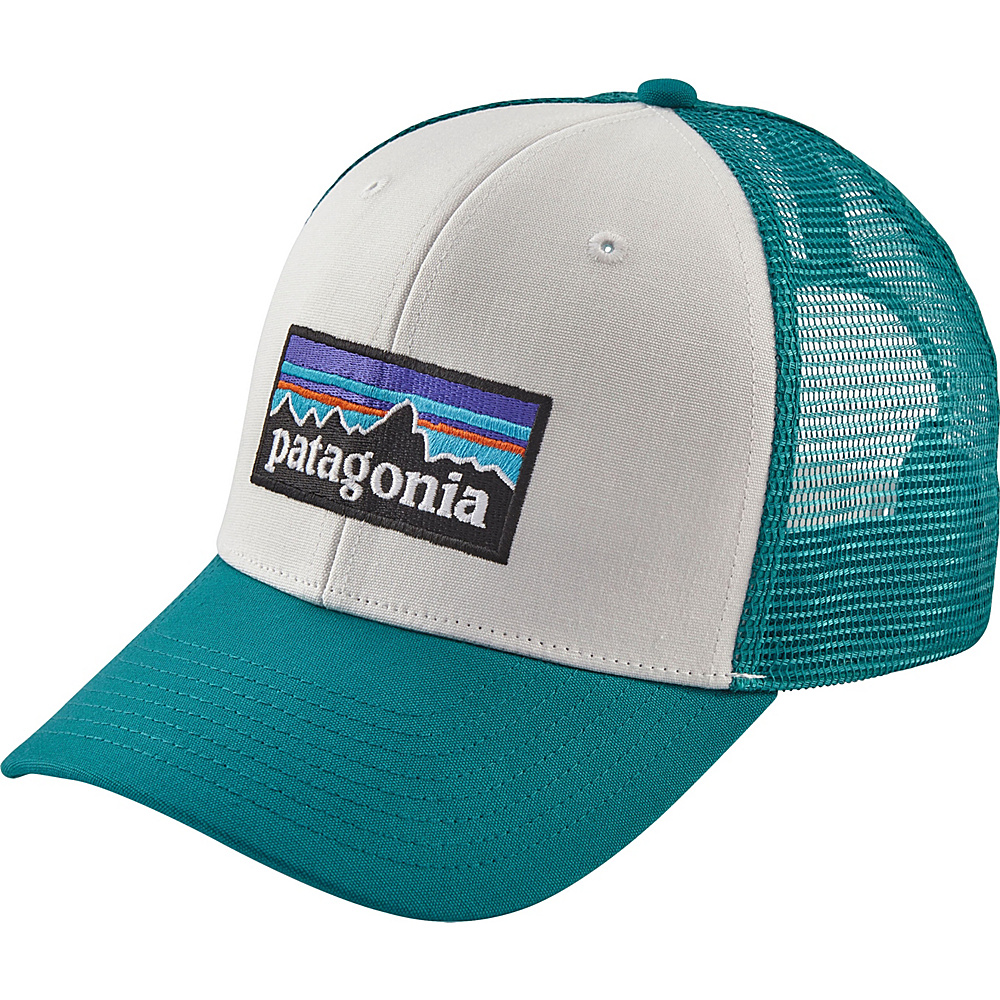 58ba25d3e7a Patagonia P6 Trucker Hat One Size - White w Elwha Blue - Patagonia Hats