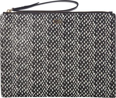 Cole Haan Reddington Medium Pouch Black/Snake - Cole Haan Designer Ladies Wallets