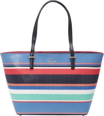 kate spade new york Cedar Street Stripe Small Harmony Tote Multi Stripe - kate spade new york Designer Handbags