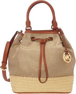 MICHAEL Michael Kors Marina Espadrille Large Shoulder Tote Gold - MICHAEL Michael Kors Designer Handbags