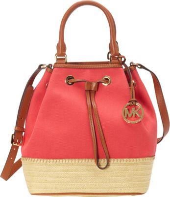 MICHAEL Michael Kors Marina Espadrille Large Shoulder Tote Watermelon - MICHAEL Michael Kors Designer Handbags