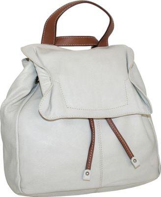 Nino Bossi Wonderful Wendy Backpack Bone - Nino Bossi Leather Handbags