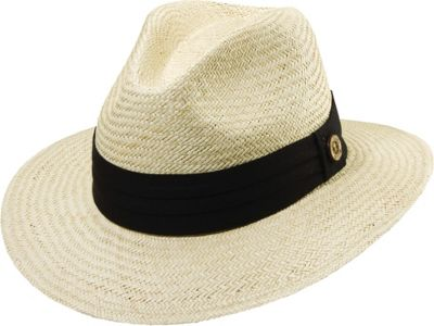 Tommy Bahama Headwear Tommy Bahama Headwear Panama Safari Hat with 3 Pleat Band L/XL - BLACK - Tommy Bahama Headwear Hats/Gloves/Scarves