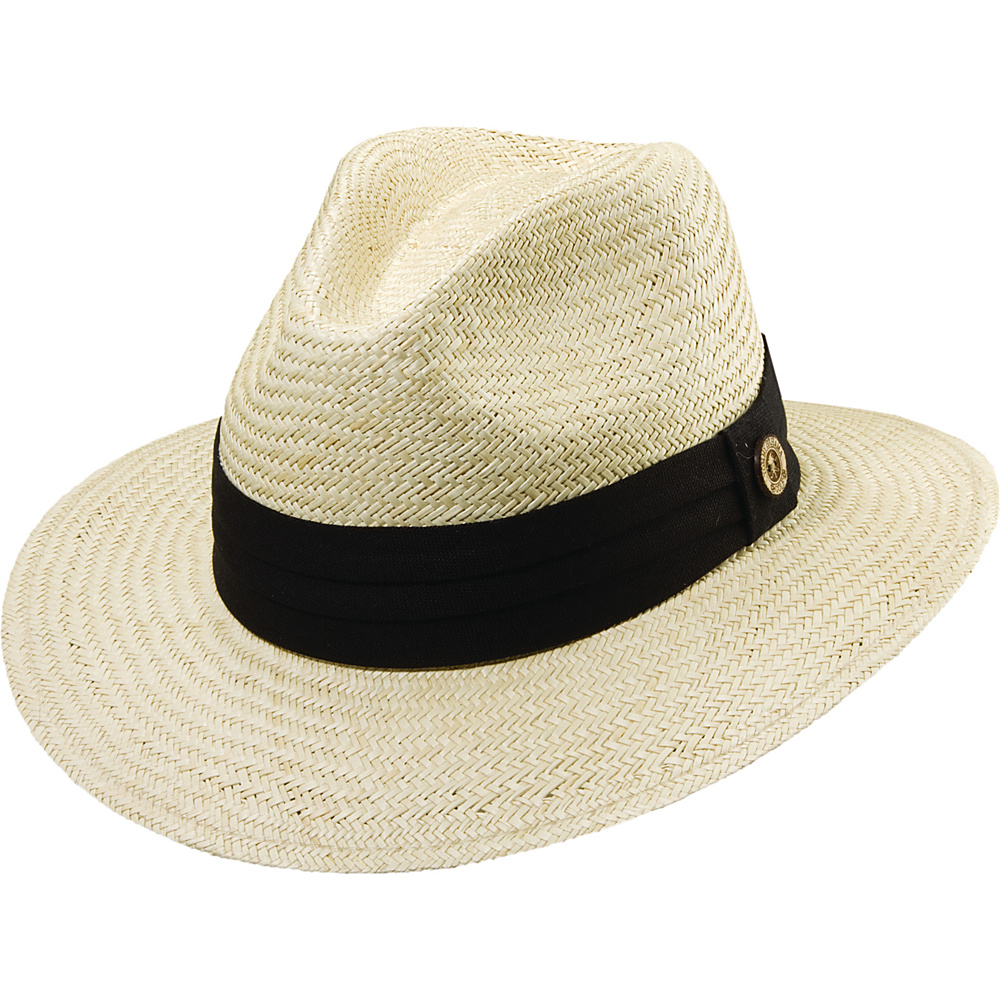 Tommy Bahama Headwear Panama Safari Hat with 3 Pleat Band BLACK-L/XL - Tommy Bahama Headwear Hats