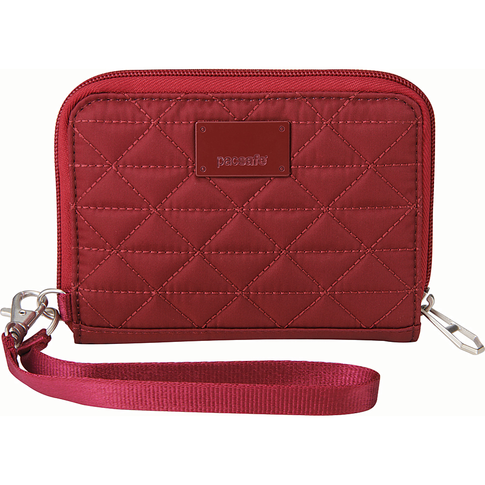 Pacsafe RFIDsafe W100 Cranberry Pacsafe Women s Wallets