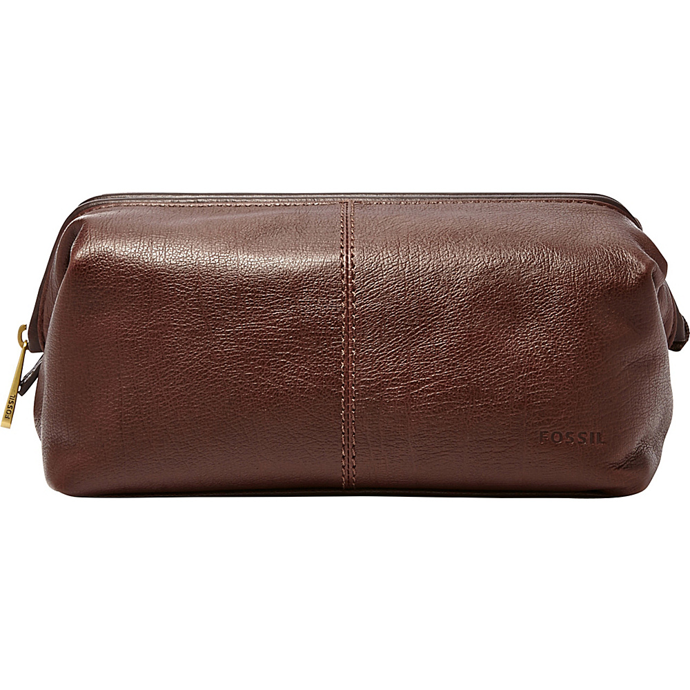 Fossil Framed Shave Kit Dark Brown - Fossil Toiletry Kits - Travel Accessories, Toiletry Kits