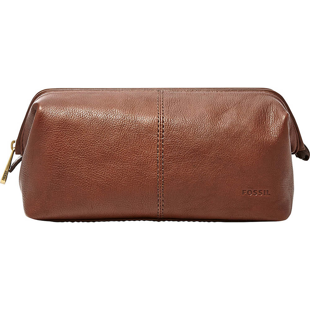 Fossil Framed Shave Kit Cognac - Fossil Toiletry Kits - Travel Accessories, Toiletry Kits