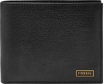 Fossil Omega Passcase Black - Fossil Mens Wallets