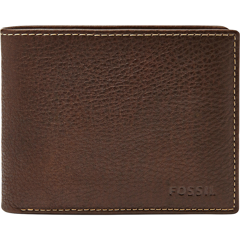Fossil Lincoln Passcase Brown - Fossil Mens Wallets - Work Bags & Briefcases, Men's Wallets