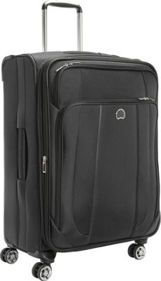 Delsey Helium Cruise 25 inch Exp  Suiter Trolley Black - Delsey Softside Checked