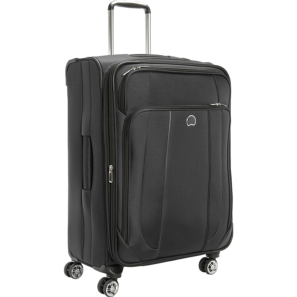 Delsey Helium Cruise 25 Exp Suiter Trolley Black Delsey Softside Checked