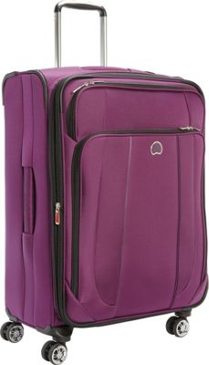 Delsey Helium Cruise 25 inch Exp  Suiter Trolley Purple - Delsey Softside Checked