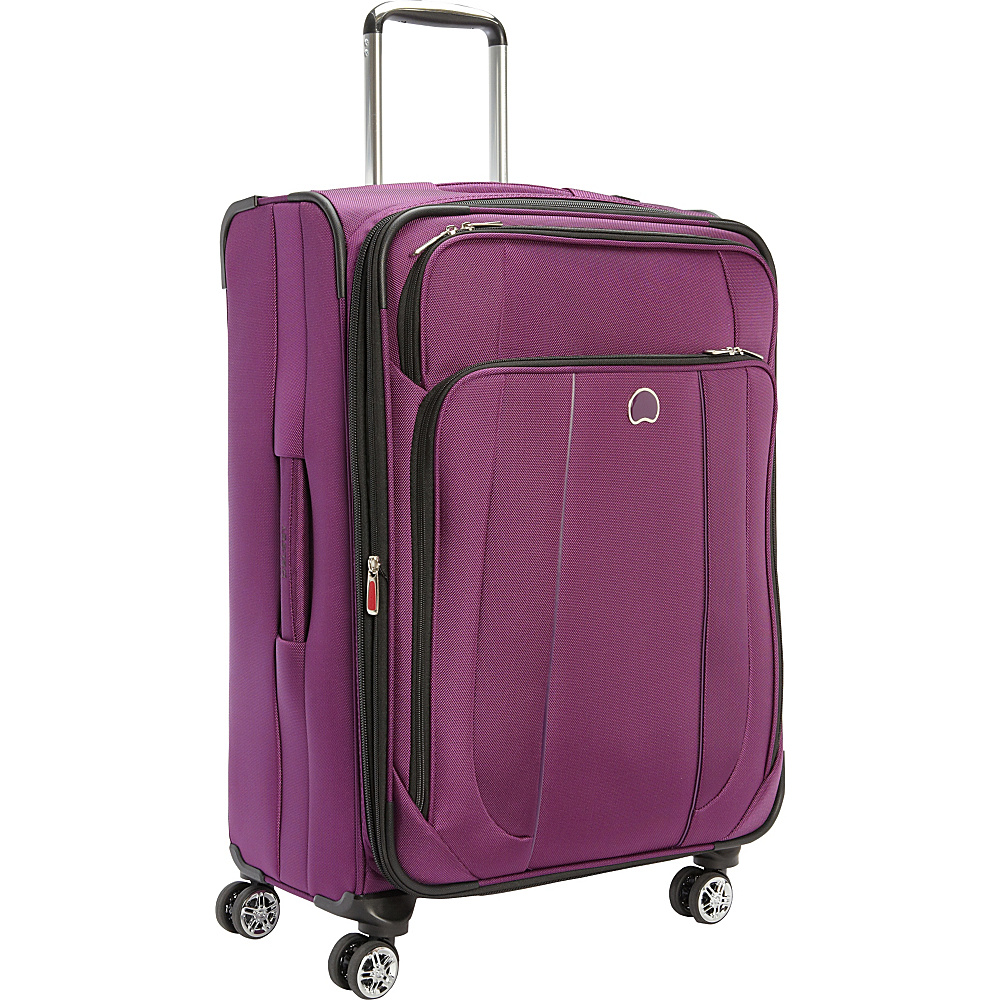 Delsey Helium Cruise 25 Exp Suiter Trolley Purple Delsey Softside Checked