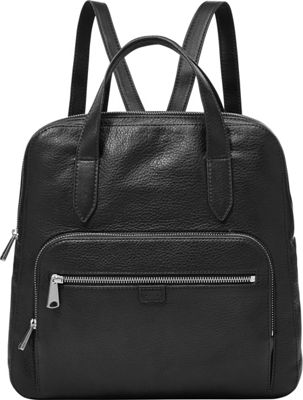 Fossil Riley Backpack Black - Fossil Leather Handbags
