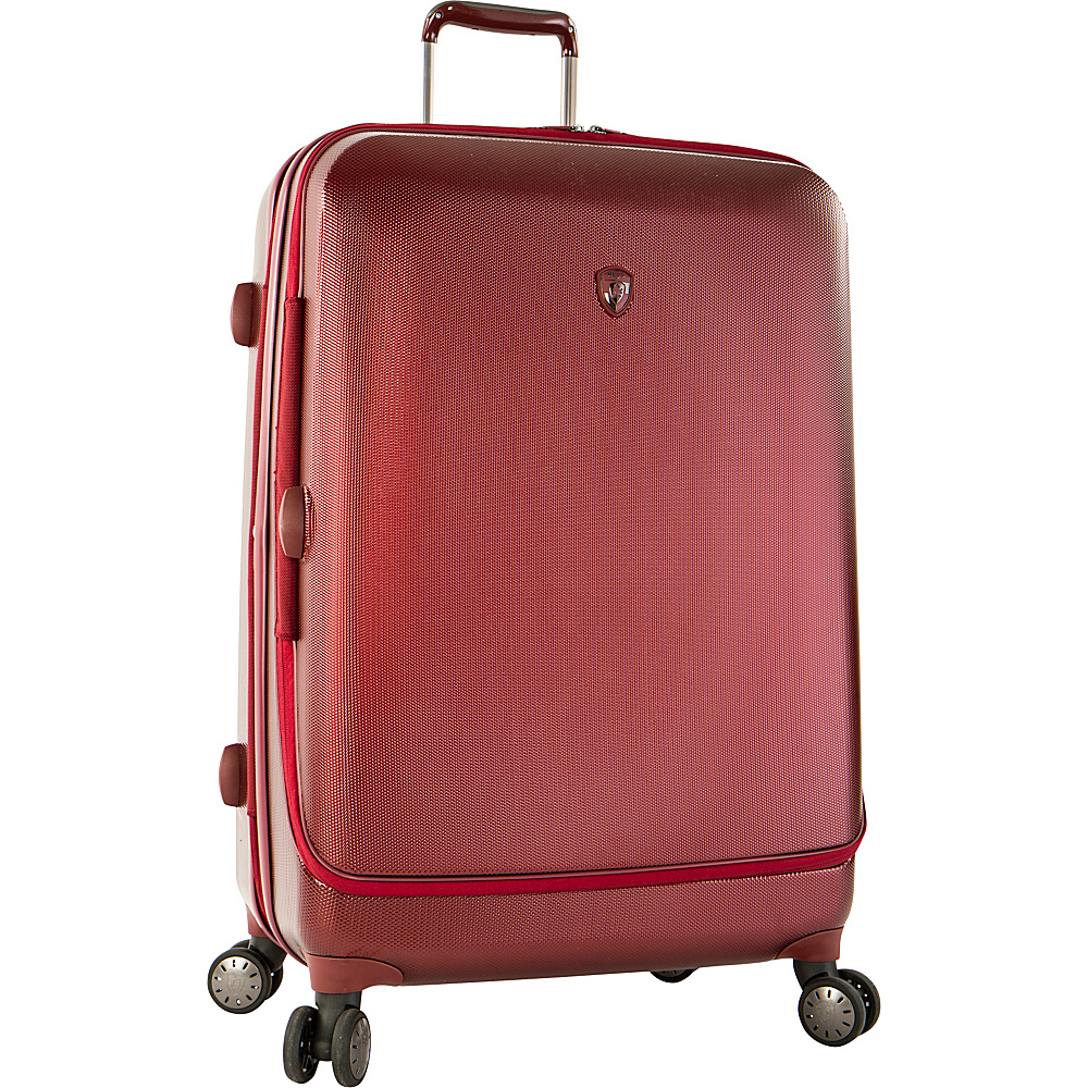 Heys America Portal SmartLuggage 30 Spinner Luggage Burgundy Heys America Hardside Checked