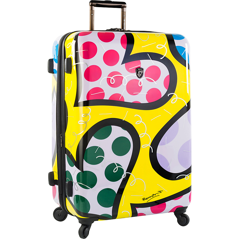 Heys America Britto Hearts Carnival 30 Spinner Luggage Multi Britto Hearts Carnival Heys America Hardside Checked