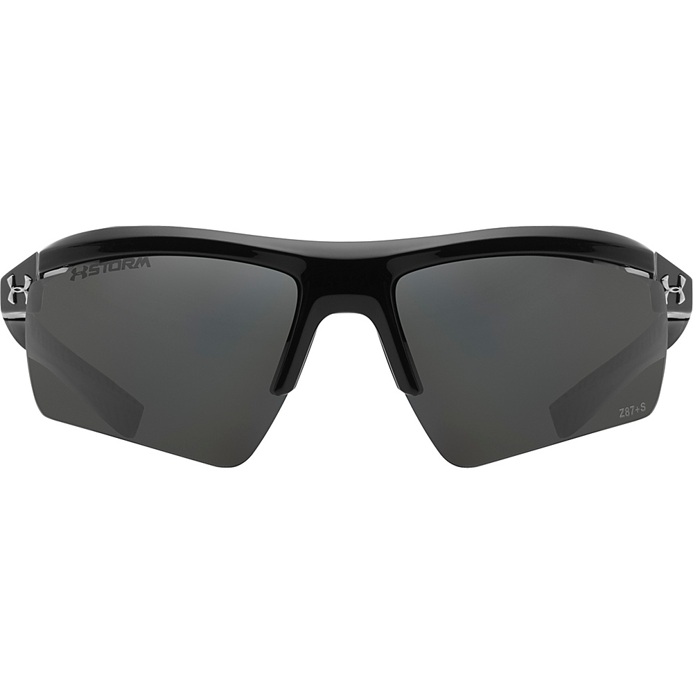Under Armour Eyewear Core 2.0 Storm Sunglasses Shiny Black Gray Storm ANSI Polarized Under Armour Eyewear Sunglasses