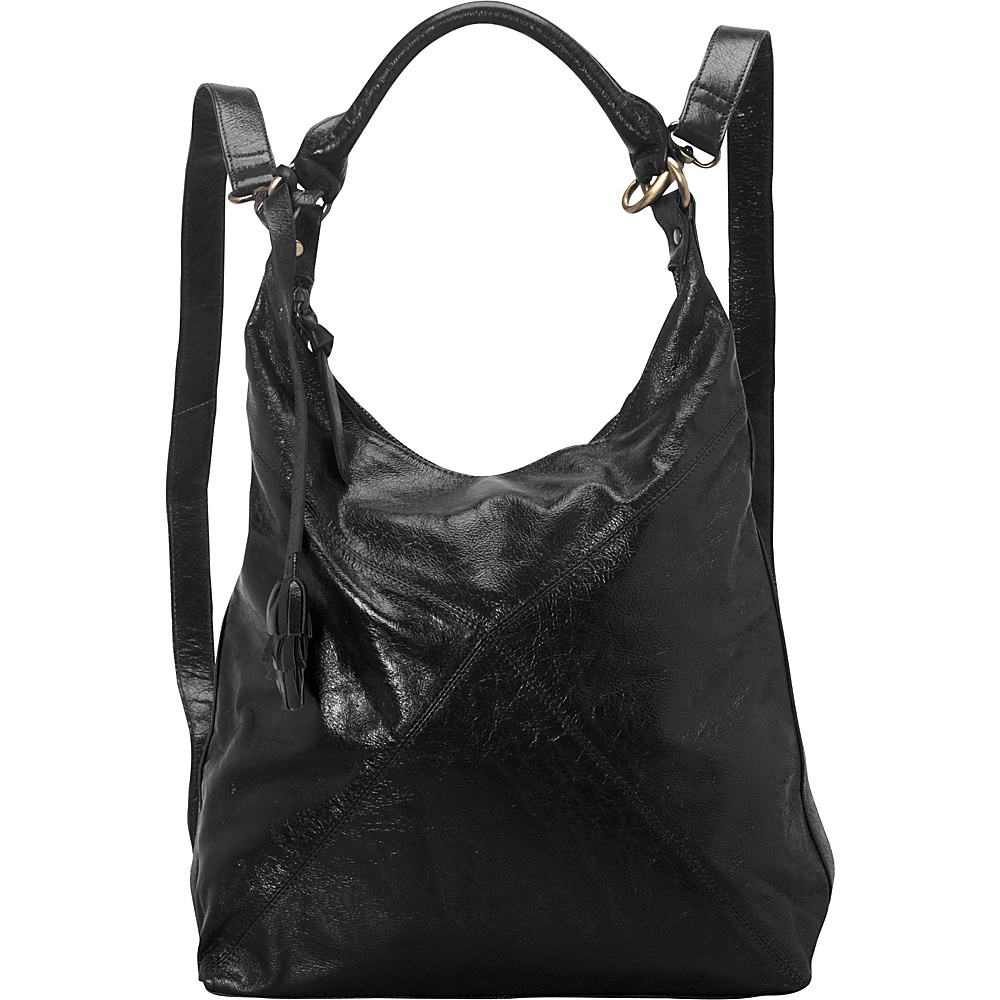 Latico Leathers Ryan Backpack Handbag Black - Latico Leathers Leather Handbags