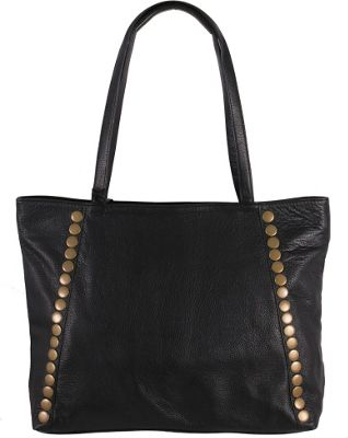 Latico Leathers Bowie Tote Pebble Black - Latico Leathers Leather Handbags