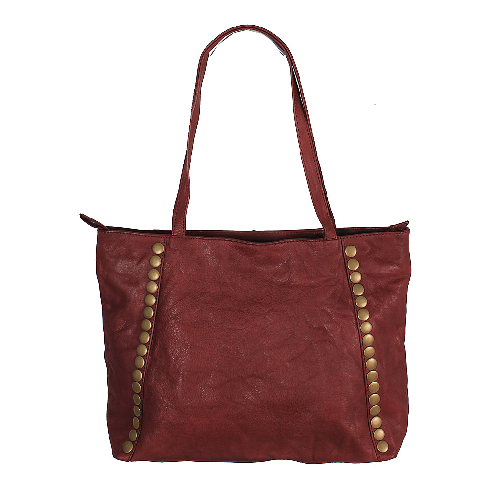 Latico Leathers Bowie Tote Crinkle Burgundy - Latico Leathers Leather Handbags - Handbags, Leather Handbags
