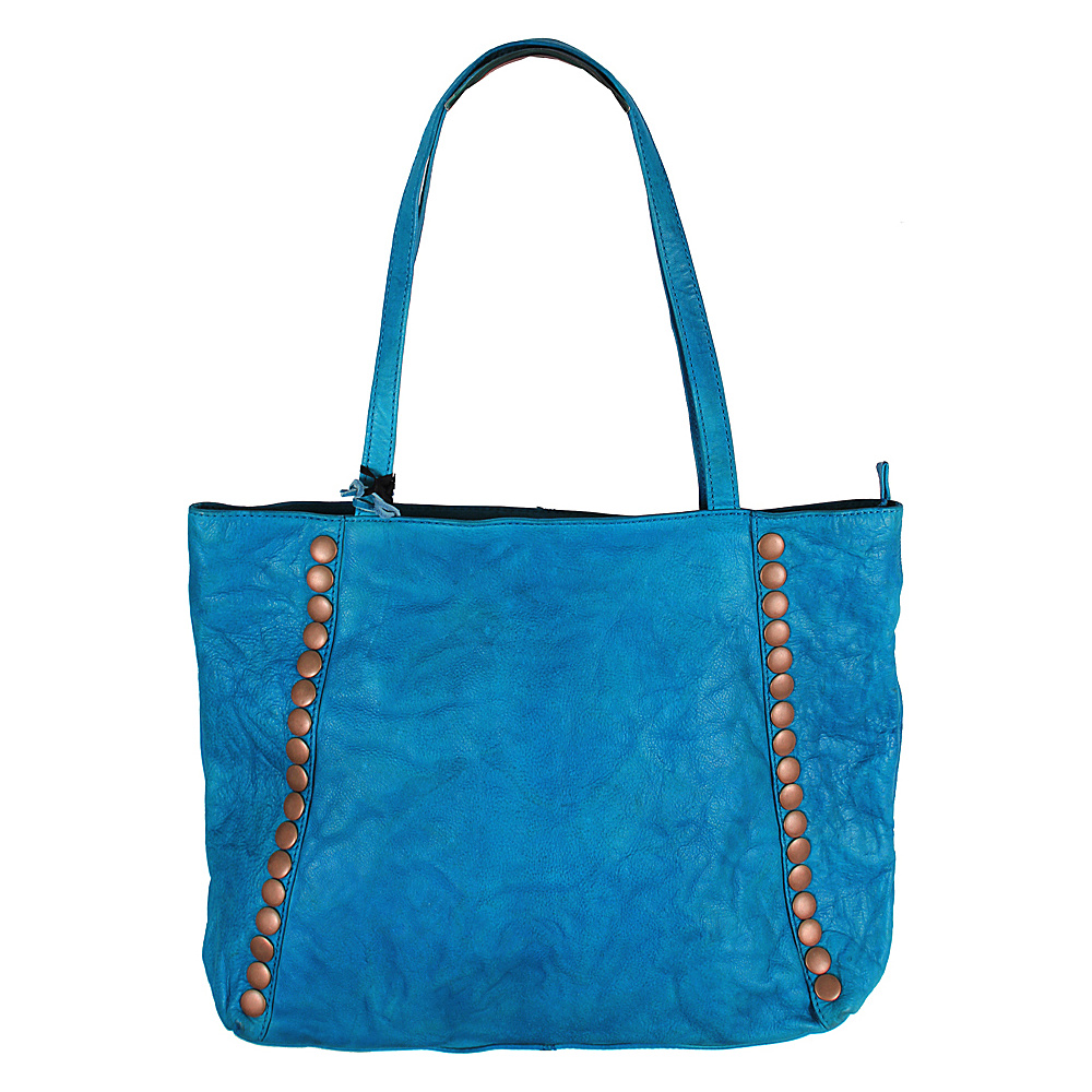 Latico Leathers Bowie Tote Crinkle Blue - Latico Leathers Leather Handbags - Handbags, Leather Handbags
