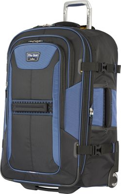 Travelpro T-Pro Bold 2.0 28 inch Expandable Rollaboard Black & Blue - Travelpro Softside Checked