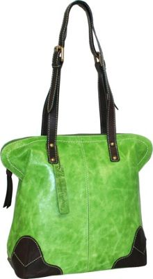 Nino Bossi Dalia Dome Satchel Apple Green - Nino Bossi Leather Handbags