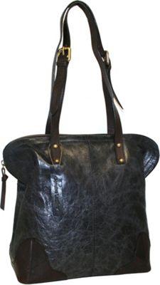 Nino Bossi Dalia Dome Satchel Black - Nino Bossi Leather Handbags