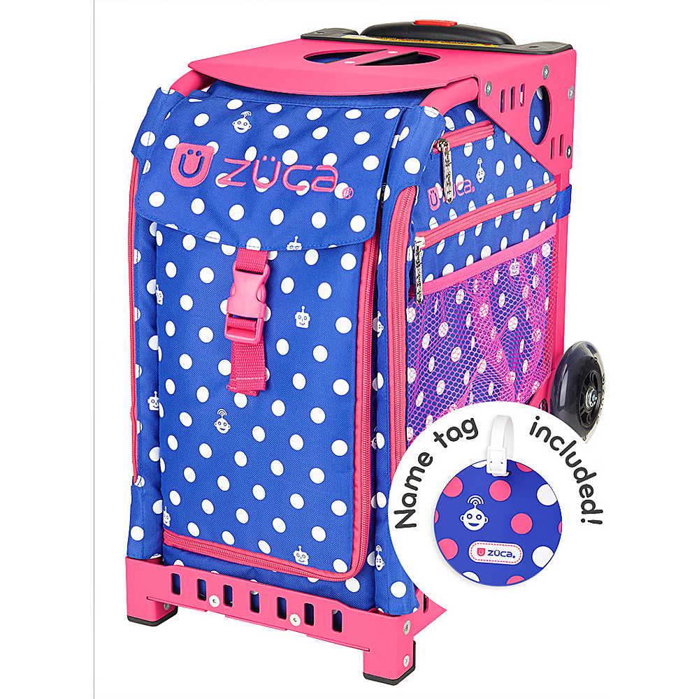ZUCA Sport Unit Polka Bots Bag Pink Frame Pink Frame and Blue Insert ZUCA Softside Checked