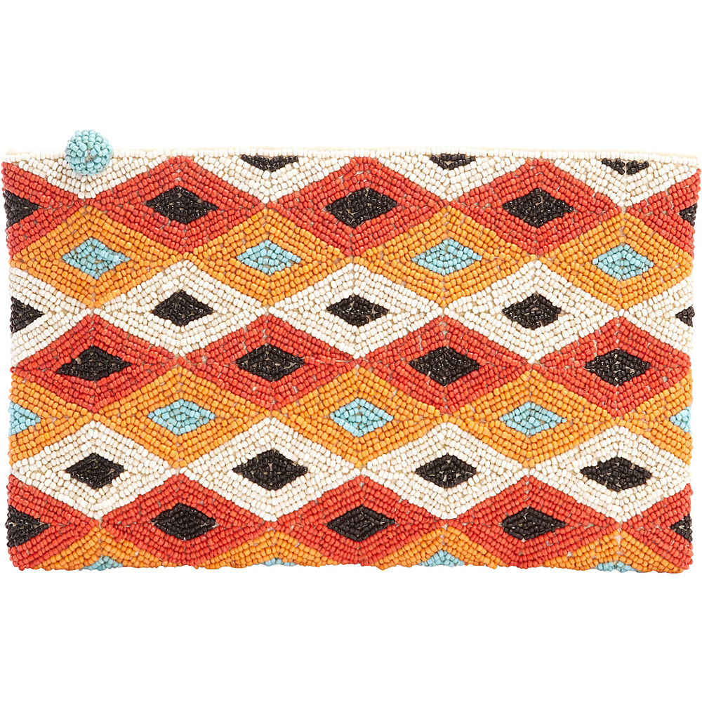 TLC you Montage Clutch Orange Multi TLC you Fabric Handbags
