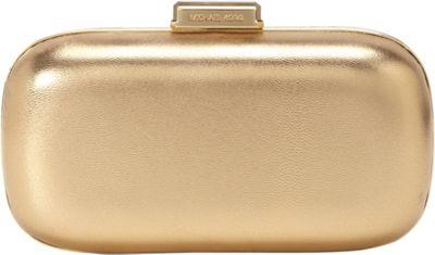 MICHAEL Michael Kors Elsie Dome Clutch Pale Gold - MICHAEL Michael Kors Designer Handbags